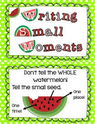 Small Moment Watermelon Anchor Chart Small Moment Personal Narrative Anchor Chart Cards In 2019