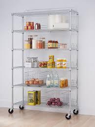 trinity ecostorage tier nsf wire shelving rack with wheels by garage storage shelves on inch chrome