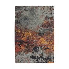 vintage rectangular jackson carpet woven to the machine gray yellow brown image 41882