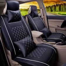 car seat covers set pu leather universal auto seat 5 covers full set bucket anti