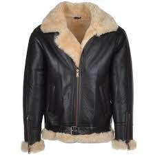 sheepskin flying jacket brown cream leo