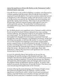 guerrilla warfare essay guerrilla warfare vietnam war