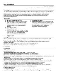 air traffic controller resume sample
