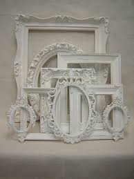 white antique picture frames. Upcycled French Victorian Romantic Cottage Wedding Picture Frames - Ornate White Antique