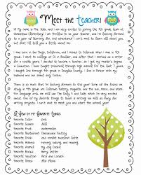 Welcome Letter To Parents Template Beautiful Self Introduction
