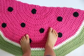 now you have your very own super cute may i add half circle watermelon rug