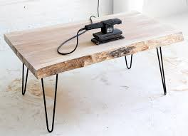wood slab coffee table with jenni of i