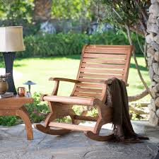 outdoor rocking chair time to relax