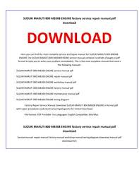 suzuki maruti 800 mb308 engine service repair manual by service Suzuki Maruti 800 at Maruti 800 Wiring Diagram Download