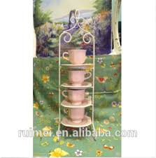 Cup And Saucer Display Stand Upright 100 Tier Iron Porcelain Tea Cup And Saucer Display Stand 42