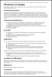 HR advisor CV Sample
