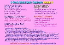 8 Week Bikini Body Plan