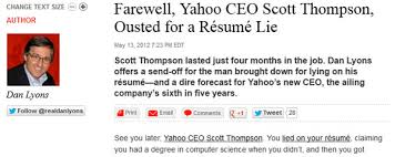 Resume Lies Lead To Yahoo's CEO Ousted