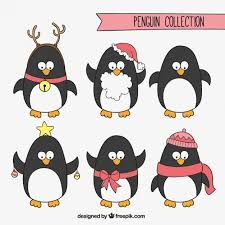 animated christmas penguins. Beautiful Penguins Christmas Penguins Collection Free Vector For Animated C
