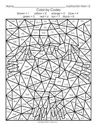 Small Picture Free Coloring By Number Pages Free Printable Color By Number