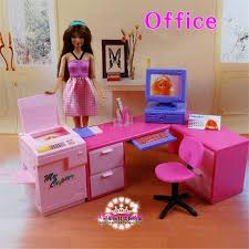 homemade barbie furniture. Barbie Doll House Pictures Miniature Office Furniture For Pretend Play Toys Girl Homemade
