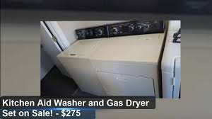 Gas Washers And Dryers Kitchenaid Washer And Gas Dryer Set For Sale 275 Tampa Youtube