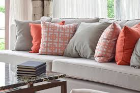 Grey Couch With Decorative Pillows