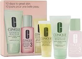 clinique 10 days to great skin set liquid soap oily skin formula clarifying lotion twice a day exfoliator 3 dramatically diffe moisturizing