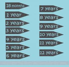 Extra Age Arrows For Wall Growth Chart Decals Track Height On Ruler 6pc