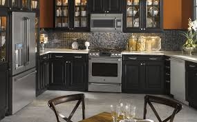 kitchen color ideas with oak cabinets and black appliances. Kitchen : Color Ideas With Oak Cabinets And Black Appliances Sloped Ceiling Bath Style Medium D