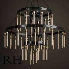 axis 3 tier chandelier by restoration hardware 3d model max obj mtl fbx