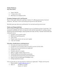 Free Download Waitress Description For Cv Billigfodboldtrojer Com