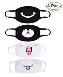 Cute Mouth Mask Designs Kawaii Muffle Mask Fascigirl 4pcs Anti Dust Anime Mouth Mask