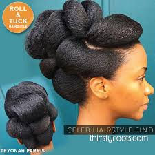 roll and tuck hairstyle