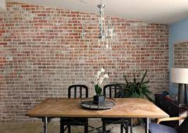 dining room contemporary old brick dining room sets luxury real thin brick accent wall tutorial