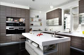 Attractive White Ceiling Painted For Modern Kitchen Design Trends White Grey Kitchen  Cabinets For Corner Gray ... Gallery