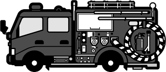 消防車のイラスト働く車乗り物素材のプチッチ