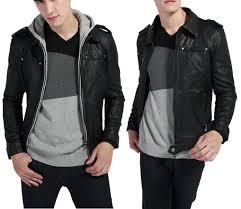 men s jacket 2016 new slim pu leather jacket double zipper hoo coat gentleman s outerwear mwj006 blue jacketa leather jackets from hello12abc
