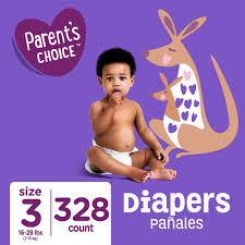 Parents Choice Diapers Size 3 328 Diapers Mega Box Walmart Com