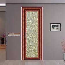 Double Swinging Kitchen Doors Half Glass Design Aluminum Frame Door Aluminum Doors Interior
