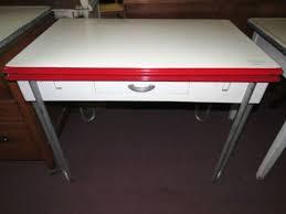 Retro Enamel Top Kitchen Table