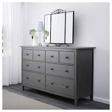 hemnes drawer dresser  dark gray stained x    ikea