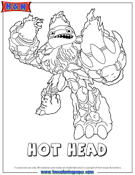 Small Picture Skylanders Giants Fire Hot Head Coloring Page H M Coloring Pages