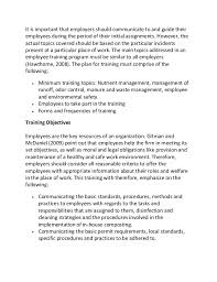 employee training program development sample essay 2