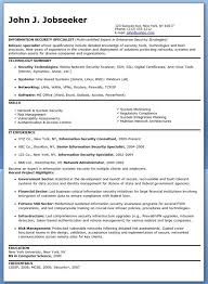 Resume Template Information Security Sample Resume Free Career