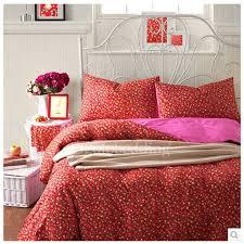 red fl trendy duvet covers on