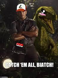 The meme apparently started when tumblr blog feminerds posted a still of pratt from the film alongside a zookeeper doing the same pose. Chris Ketchum Pokememes Pokemon Pokemon Go