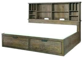 Rustic Storage Bed Rustic Bed Frame With Storage Rustic Storage Bed ...
