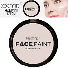 technic white foundation cream face paint goth makeup