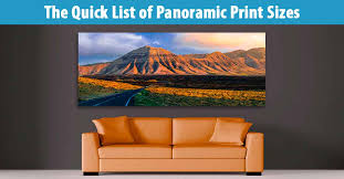 list of panoramic print sizes on standard wall art sizes with list of standard panoramic print sizes