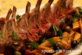Moroccanmediterranean Lamb Chops W Roasted Veggies Sportsglutton