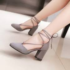 Yesstyle Shoe Size Chart Chunky Heel Tie Ankle Pumps
