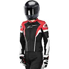 alpinestars women s stella gp plus r leather jacket black white red closeout