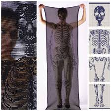 Crochet Scarf Size Chart Life Size Self Portrait Skeleton Scarf By Fabienne Gassmann