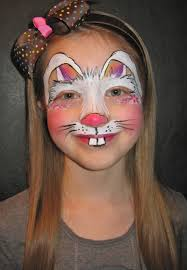 bunny face makeup face painting easter on face paintings face painting